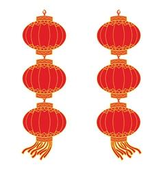 Chinese lantern garland vector