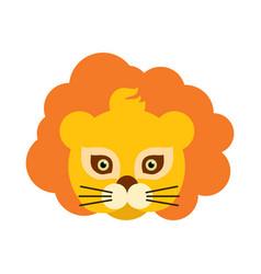 lion animal carnival mask orange king of beast vector image