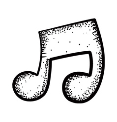 music note doodle vector image