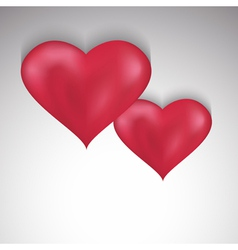 Stylish Valentines Day background with two hearts vector image