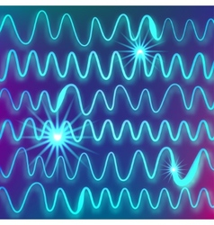 abstract background of light blue waves with the vector image vector image