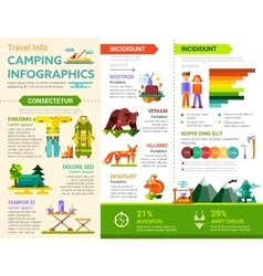Camping infographics - poster brochure cover vector