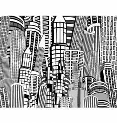 city towers vector image vector image