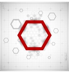 Modern Hexagon background vector image
