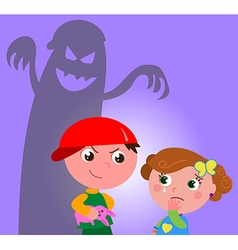 Child bully vector image vector image