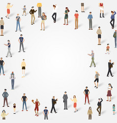 Group of people with copyspace vector