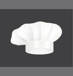 modern white chef hat restaurant uniform costume vector image
