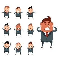 Set of business men vector image vector image
