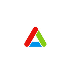triangle colored letter a logo vector image vector image