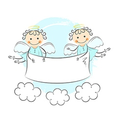 Two little angels vector image vector image