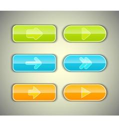 Arrow buttons set vector image vector image