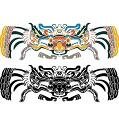 aztec stencil vector image