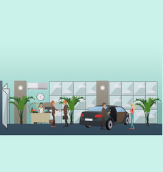 Car shop concept in flat style vector