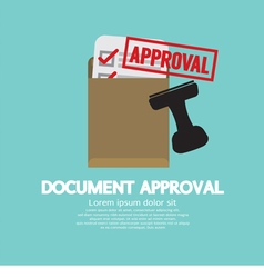 Document Approval Stamp vector image