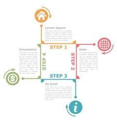Four Steps Diagram Template vector image