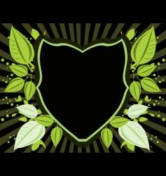 leaf shield vector image