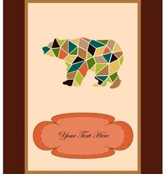 Mosaic bear vector image vector image