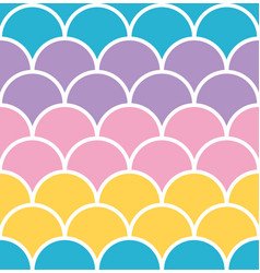 pastel scale seamless pattern with white outline vector image