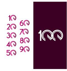 100 years anniversary celebration purple line vector