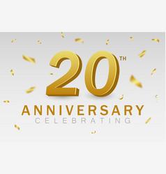 20 anniversary vector image