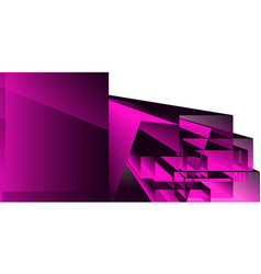 abstract geometric background with shapes vector image