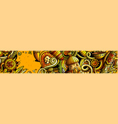Africa hand drawn doodle banner cartoon detailed vector
