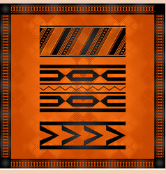 african national cultural symbols vector image