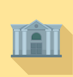 architecture courthouse icon flat style vector image
