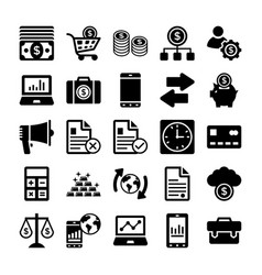 banking and finance line icons 10 vector image