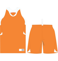 Basketball women performance game shirts and short vector