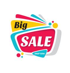 big sale discount - creative banner vector image