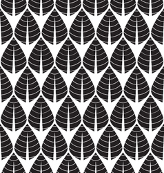 Black and white Seamless leaf pattern vector image