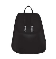 Black modern woman backpack vector