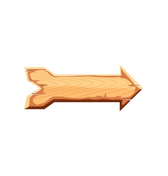 blank wooden sign board icon vector image