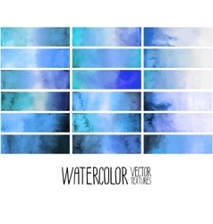 Blue watercolor gradient rectangles vector