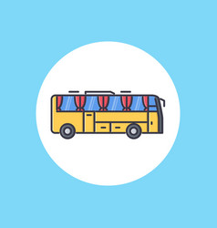 bus icon sign symbol vector image
