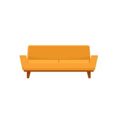 camelback sofa icon flat style vector image
