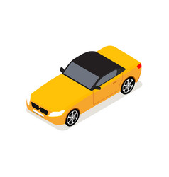car isometric view 3d isolated vehicle vector image