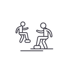 cardio exercise line icon concept cardio exercise vector image