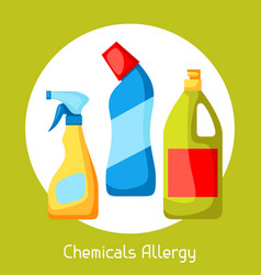 chemicals allergy for medical vector image