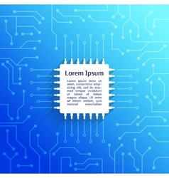 Circuit board blue background vector