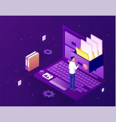 Concept electronic file organization service vector