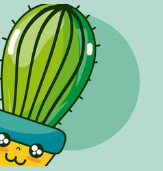 Cute houseplant kawaii cartoon vector