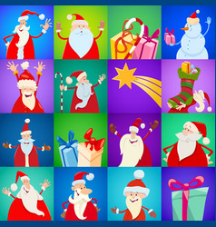 decorative christmas holiday pattern cartoon vector image