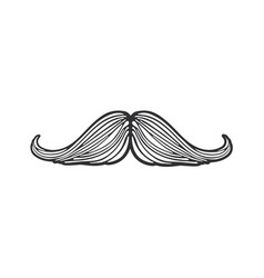 doodle hipsters mustache vector image