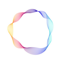 Dynamic ring shape abstract modern graphic vector