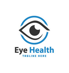 eye health modern logo vector image