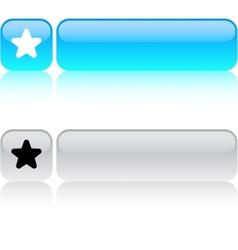 Favorite Star square button vector