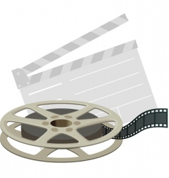 film reel and clapboard vector image