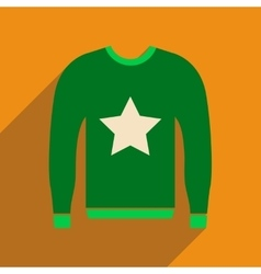 Flat icon with long shadow Men Sweater vector